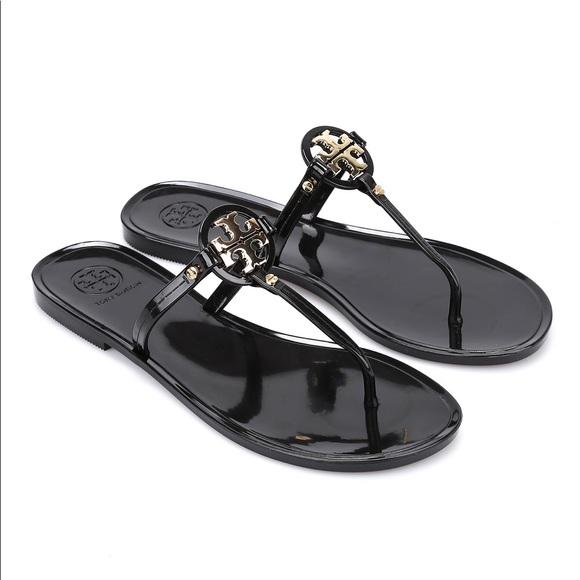 74797990acd1 Tory Burch Shoes | Black Mini Miller Jelly Thong Sandal | Poshmark